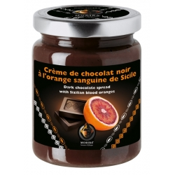 Dark chocolate spread with Sizilian blood oranges