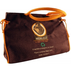Large brown chocolate jute bag