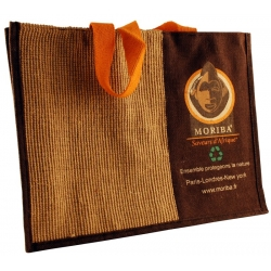 Bi-color jute bag