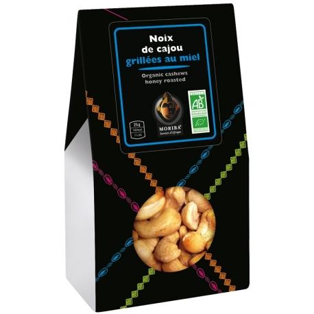 Organic cashews, honey roasted