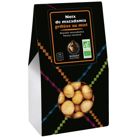 Organic macadamia nuts, honey roasted