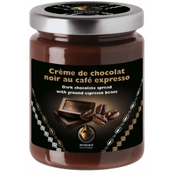 Dark chocolate spread with ground espresso beans