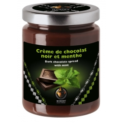 Dark chocolate spread with mint