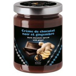 Dark chocolate spread with ginger