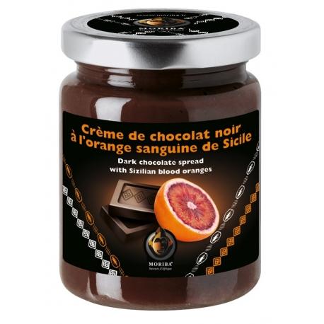 Crème de chocolat noir à l'orange sanguine de Sicile