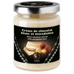 White chocolate spread with macadamia nuts
