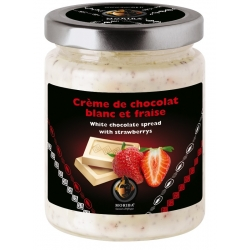 White chocolate spread with strawberrys